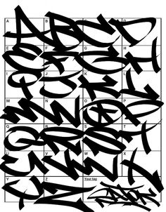 Graffiti Letters: 61 graffiti artists share their styles Graffiti Alphabet Styles, Graffiti Lettering Alphabet, Graffiti Text, Graffiti Words, Graffiti Doodles, Graffiti Writing, Tattoo Lettering Fonts, Graffiti Tagging, Graffiti Designs