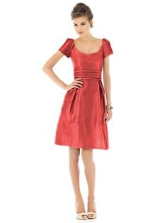 Alfred Sung Style D526  in firecracker  Fabric: Peau De Soie