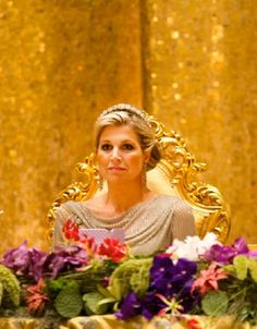 Crown Princess Maxima of the Netherlands attends the State Banquet in Bandar Seri Begawan, Brunei Darussalam, 21 Jan 2013