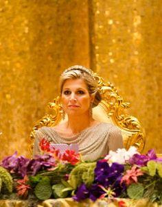 Crown Princess Maxima of the Netherlands attends the State Banquet in Bandar Seri Begawan, Brunei Darussalam, 21 Jan 2013
