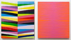fun, colourful paintings i could totally see in my house.