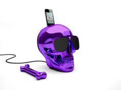 AeroSkull HD lila. Jarre Technologies, fundada por el mito de la musca Jean Michel Jarre, con su altavoz AeroSkull HD dispondras de un equipo de sonido impresionante en tu casa.