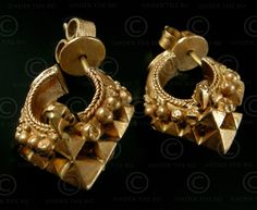 South Indian gold earrings