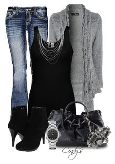 """""""Grey and Black"""" by cindycook10 ❤ liked on Polyvore featuring miss-me, Jane Norman, BKE, Lumiani, Philosophy di Alberta Ferretti, Burberry and Otazu"""