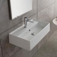 Scarabeo Teorema countertop / wall-mounted washbasin W: 60 D: 35 cm