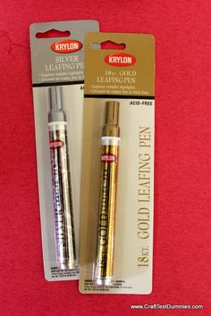 Krylon Leafing Pens - Craft Test Dummies