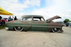 "1953 Chevrolet With 20"" Steelies (Detroit Steel Wheels)"