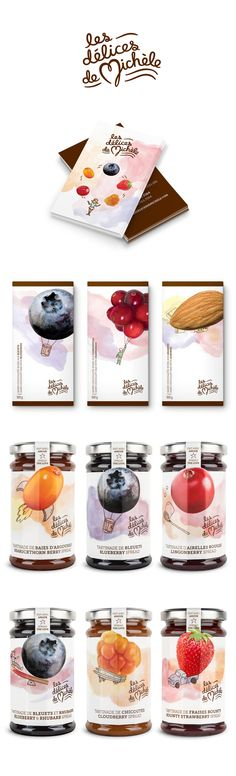 les délices de Michèle by Chez Valois. We love the use of illustration in this stationery and #packaging design