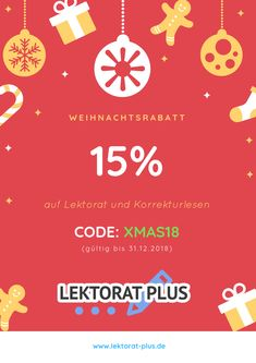 15% Rabatt auf Lektorat und Korrekturlesen bis 31.12.2018.