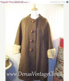 40 OFF THANKSGIVING SALE Vintage 60s Brown by DenasVintageCloset, $135.00