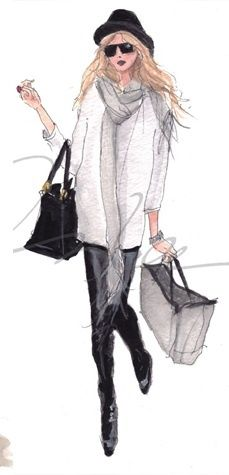 fashion illustration ✿⊱╮