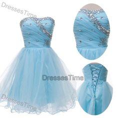 Short prom dress blue prom dress