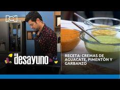 Receta: cremas de aguacate, pimentón y garbanzo | El Desayuno - YouTube Chefs, Youtube, Chickpeas, Avocado, Breakfast, Homemade, Food Items, Recipes, Cook