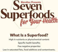 Eat Super Foods, not junk food when it comes to your health. Here's the list of super foods that you should be eating for a better body.