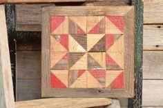 primitive quilt block country barn quilt by IlluminativeHarvest, $55.00