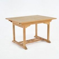 """Rectangle Teak Extension Dining Table 47"""""""