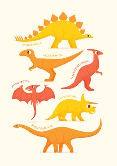 Dinosuars by Ben Aslett #illustration #Dinosaurs