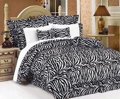 Twin Zebra Animal Kingdom Bedding Comforter Set