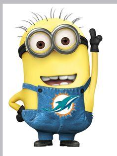 Even the minions love the Miami dolphins!!