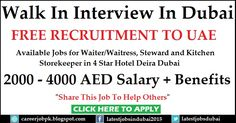 #WalkinInterviewinDubai  Waiter Required for Al Buraq Hotel Package: 2000 - 4000 AED Salary + Benefits >>> Share This Job To Help Others <<<
