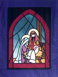 Nativity Quilt at the Anglican Church (Perth, Australia) Anna Quist oldaláról :) Christmas Banners, Christmas Nativity, Christmas Fabric, Christmas Wood, Christmas Crafts, Bordados E Cia, Stained Glass Quilt, Anglican Church, Church Banners