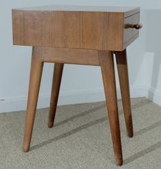 Important 1940 MOMA Organic Design Competition Bedside Table | From a unique collection of antique and modern night stands at https://www.1stdibs.com/furniture/tables/night-stands/