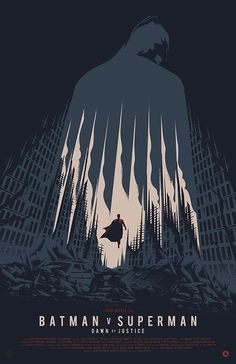 by Thomas Walker - The Poster Posse Pays Tribute To Warner Bros. Batman V Superman: Dawn Of Justice by Creators Poster Posse Batman Vs Superman, Superman Movies, Batman Art, Marvel Dc Comics, Superman Poster, Batman Arkham, Batman Robin, Illustration Batman, Final Fantasy
