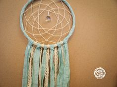 Dream Catcher  With Crystal Prism Pure Turquoise by bohonest #dream #catcher #decor #decoration #hippie #hipster #boho #native #american #indian #tribal #feather #feathers #home #bedroom #nursery #mobile #dreamer #unique #boho nest #christmas #gift #sale