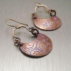 Image of Violet Garden Earrings