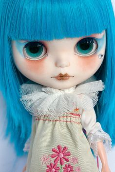 Blythe custom commission OOAK by Horseonthemoor. Etsy