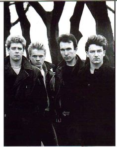 U2, complete with the 5th member, Bono's mullett