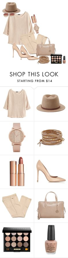 """""""Untitled #51"""" by watermelon1004 ❤ liked on Polyvore featuring H&M, Forever 21, ALDO, Chan Luu, Charlotte Tilbury, Gianvito Rossi, Versace, Tosca Blu, Bobbi Brown Cosmetics and OPI"""