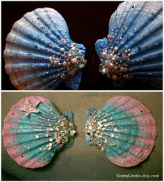 Shell Painting Ideas Fresh 759 Best Images About Sea Shells Variety Crafts and I. Shell Painting I Seashell Painting, Seashell Art, Seashell Crafts, Stone Painting, Seashell Projects, Mermaid Crafts, Shell Ornaments, Sea Crafts, Painted Shells