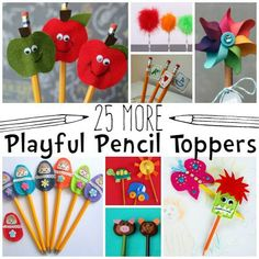 more playful pencil toppers for kids