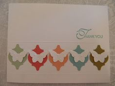 Kards by Kadie. Stampin Up Mosaic punch and butterfly sizzlet combination.