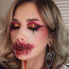 Halloween Makeup Blood, Blood Makeup, Demon Makeup, Scary Clown Makeup, Amazing Halloween Makeup, Zombie Makeup, Sfx Makeup, Liquid Latex Makeup, Monster Makeup