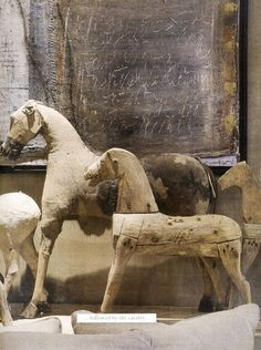 Wooden horses by Jean-Loup Daraux