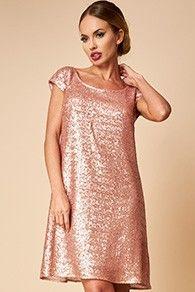 Rochie de ocazie paiete roz