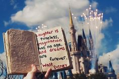 Laughter is timeless, imagination has no age and dreams are forever.- walt disney has the best quotes Walt Disney Quotes, Walt Disney World, Disney Parks, Disney Love, Disney Magic, Disney Stuff, Disney Disney, Disney Bound, Disney Nerd