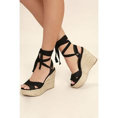 Sandales Compensées Glamour Espadrille Noir - Noir bfn5f
