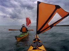 sailing to Peel (c) Canoe And Kayak, Kayak Fishing, Fishing Boats, Sea Kayak, Fishing Tips, Utility Boat, Kayak Storage, Paddle Boat, Sup Surf