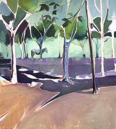 "Saatchi Online Artist: Charlotte Evans; Oil, 2013, Painting ""Under trees"""