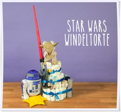 Möge die Macht mit Dir und Deinem Baby sein. Die Star Wars Windeltorte ist einer unserer absoluten Favoriten und der Renner auf jeder Babyparty.