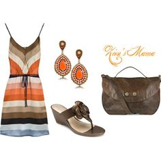 Summer Brown, created by zionsmama on Polyvore