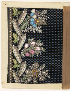 Embroidery Sample, 1790–1800