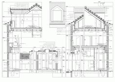 Image 44 of 45 from gallery of House in Estoril / Ricardo Moreno Arquitectos. Landscape Drawings, Architecture Drawings, Architecture Old, Architecture Details, Construction Documents, Construction Drawings, Architectural Section, Architectural Presentation, Visualisation