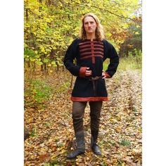 VIKING / RUS TUNIC WITH BUTTONS - Slav Medieval Shop