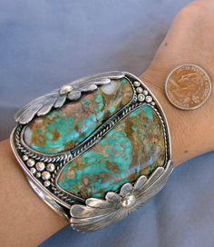 Bisbee Turquoise on a Navajo Bracelet Navajo Jewelry, Southwest Jewelry, Western Jewelry, Sterling Silver Jewelry, Vintage Jewelry, Gypsy Jewelry, Bisbee Turquoise, Turquoise Jewelry, Turquoise Bracelet