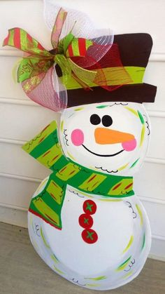 Wooden Snowman for your front door