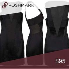 AllSaints Mini Dress Sz 4 New Without tags// Allsaints Mini dress Silky black with mesh cutout details All Saints Dresses Mini
